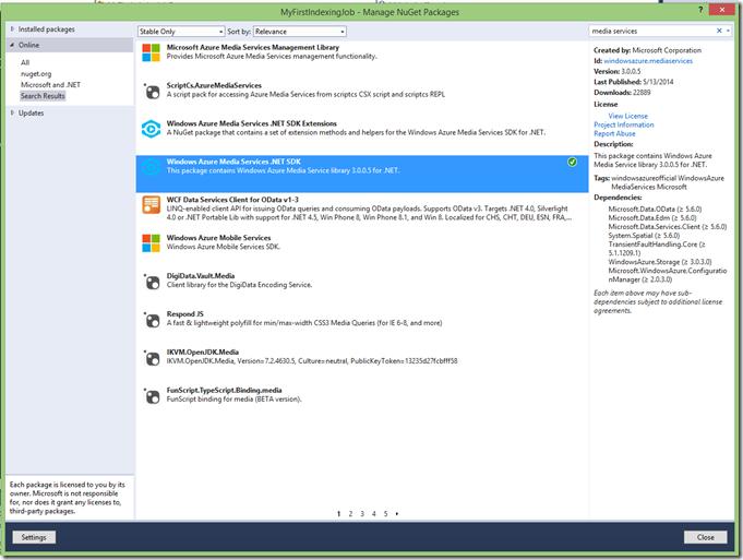 Installing SDK via NuGet
