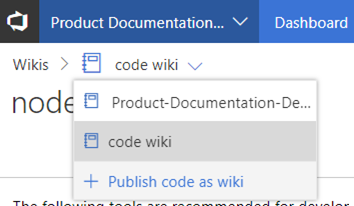 public code as wiki action