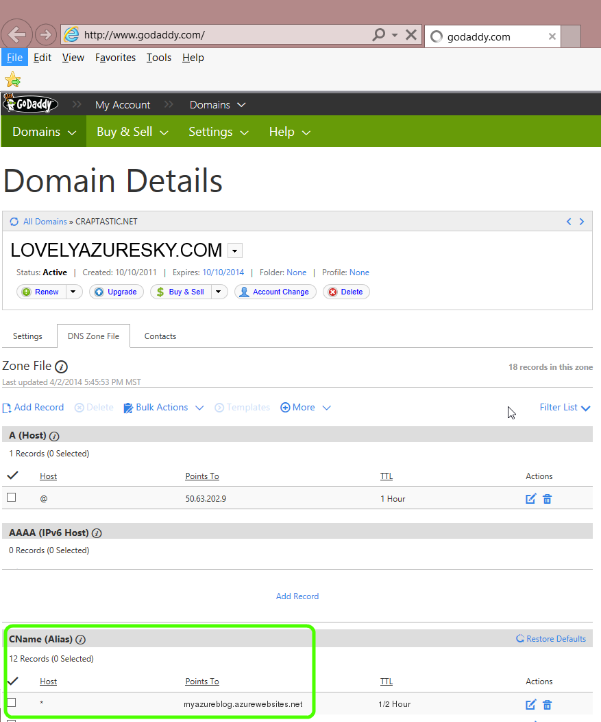 Azure Websites And Wildcard Domains Blog Microsoft Azure