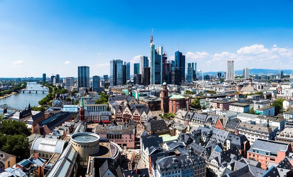 ドイツ、フランクフルト市の眺望