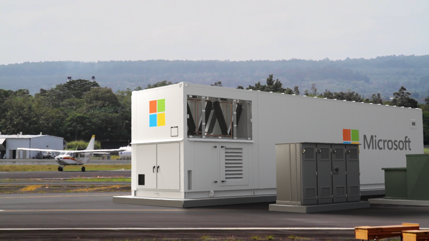 Modular Datacenter deployed to airfield.