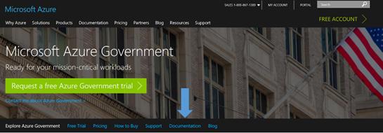 Azure Govt Landing Page