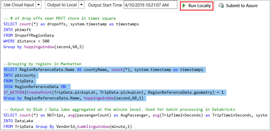 An image showing how to test partial scripts locally.
