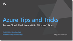 How to access Cloud Shell from within Microsoft docs - Azure Tips and Tricks