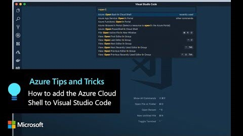 Thumbnail from How to add the Azure Cloud Shell to Visual Studio Code | Azure Tips and Tricks on YouTube