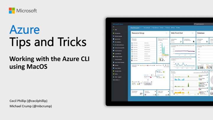 Thumbnail from Azure Tips & Tricks: How to work with the Azure CLI using MacOS on YouTube