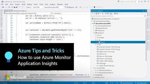 Thumbnail from How to use Azure Monitor Application Insights to recordcustom events by Azure Tips and Tricks