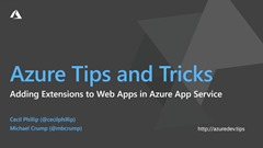 How to work with extensions in Azure App Service thumbnail