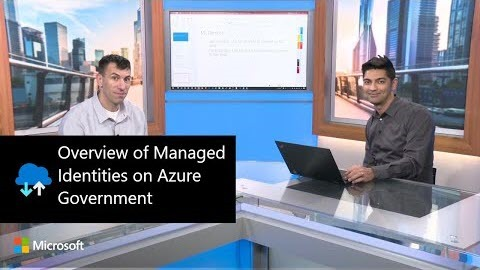 Thumbnail from the video, Overview of Managed Identities on Azure Government