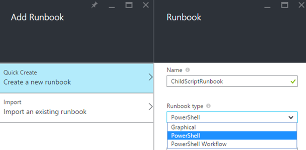 Adding a PowerShell script runbook to Azure Automation