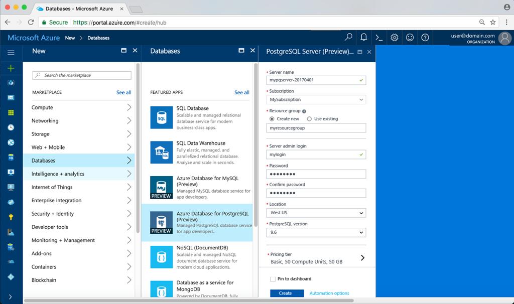 Announcing Azure Database for PostgreSQL Preview | Blog | Microsoft