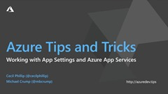 Screenshot from Azure Tips & Tricks | How to work with app settings in Azure App Services
