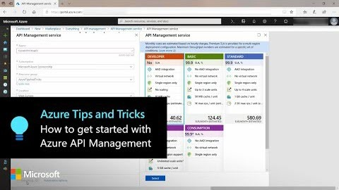Thumbnail from How to get started with Azure API             Management | Azure Tips and Tricks
