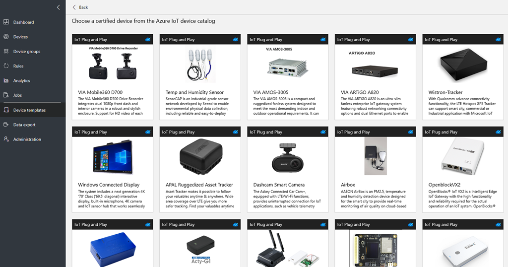 An image of the certified device browsing page.
