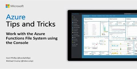 Thumbnail from How to work with the Azure Functions File System by Azure Tips & Tricks from YouTube