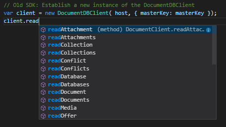DocumentDBClient