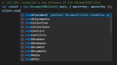 DocumentDBClient
