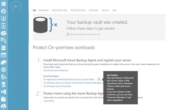 Microsoft Azure Backup- dowload