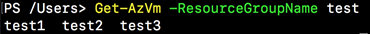 Resource group name completer