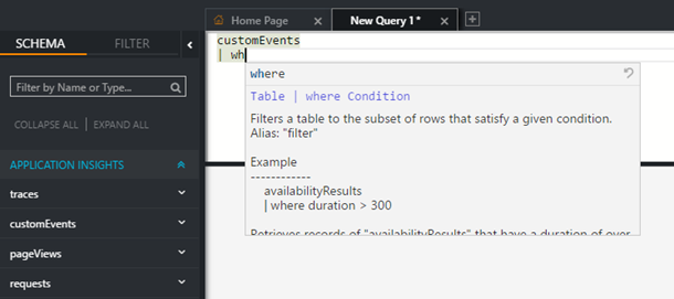 Analytics Integrated Help Through IntelliSense