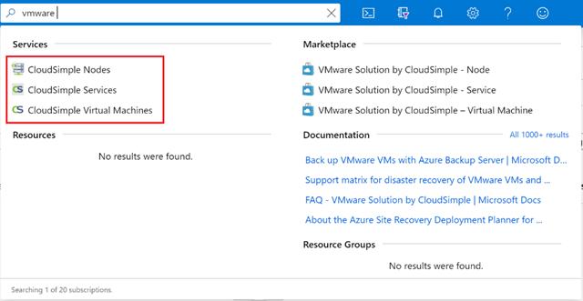 Azure Portal にサインインし「vmware」を検索