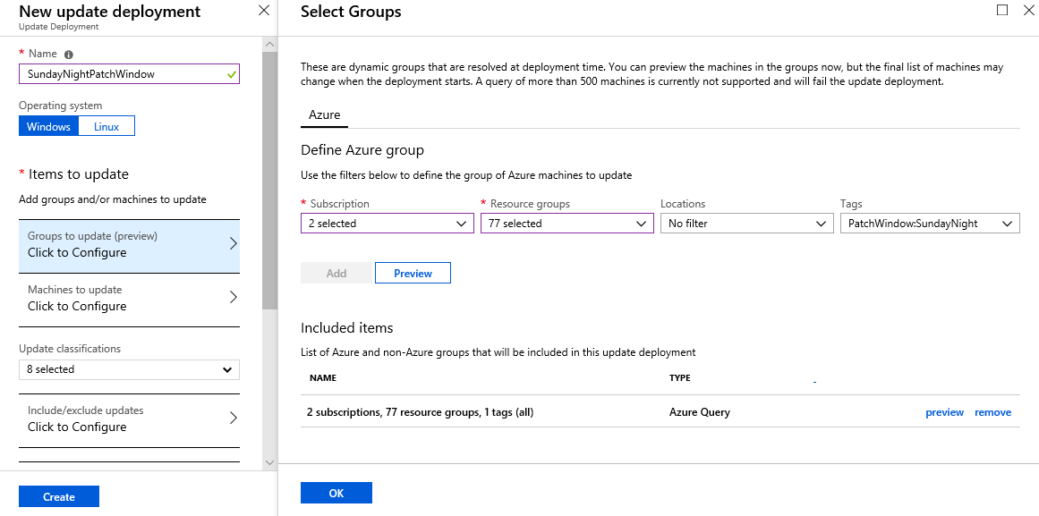 NewUpdateDeployment_thumb[5] - Server Patching with Azure Update Management for Azure Servers