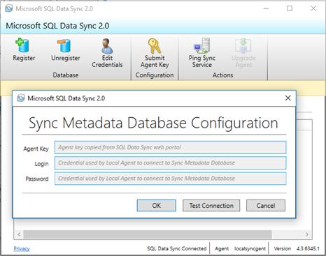 Sync Metadata Database Configuration