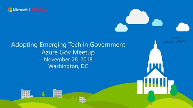 Azure Government meetup information