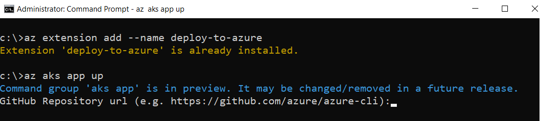 Azure CLI extension