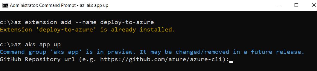 Extension Azure CLI