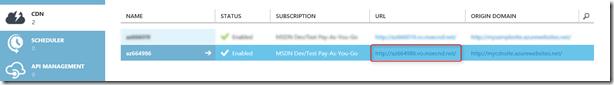 Enabling CDN for Azure Websites