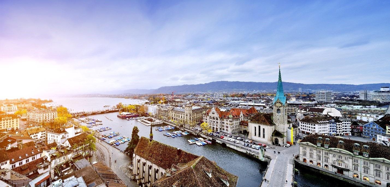 スイス、チューリッヒの都市景観