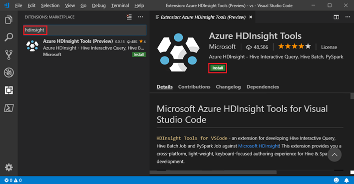 HDInsight Tools for VSCode