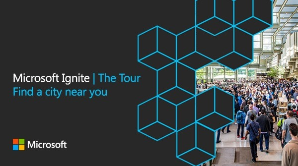 Microsoft Ignite | The Tour promotional graphic