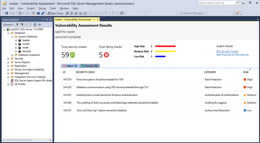 Introducing SQL Vulnerability Assessment for Azure SQL