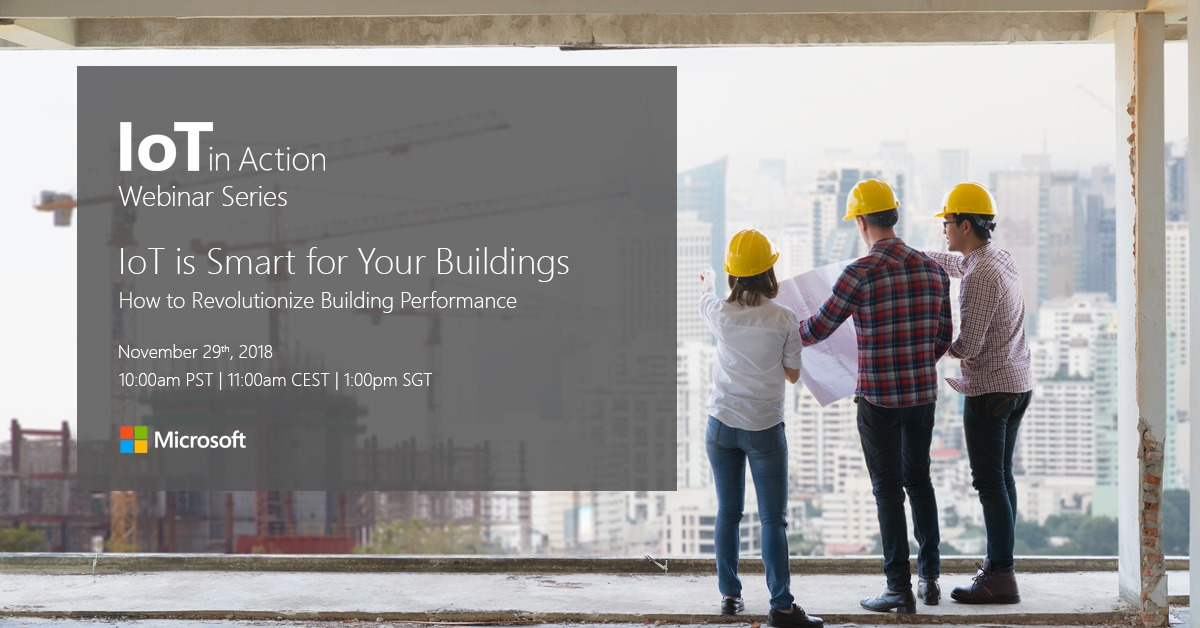 IoT Smart-Building spotlight on webinar information