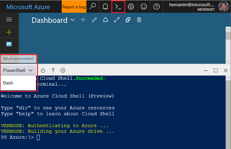 PowerShell-In-CloudShell
