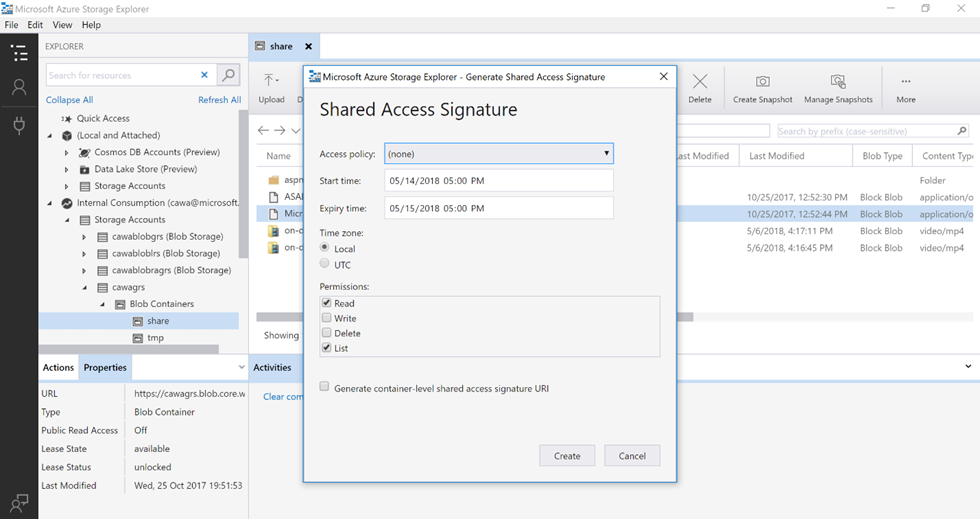 shared access signature