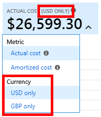 An image showing the currency type menu.