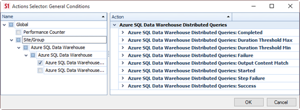 SQL DW - Actions and Alerts