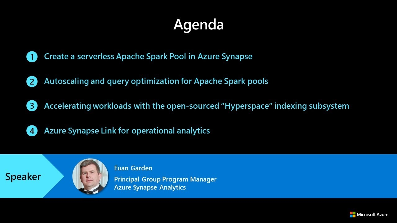 Sign up for a free hands-on training series for Apache Spark Pool