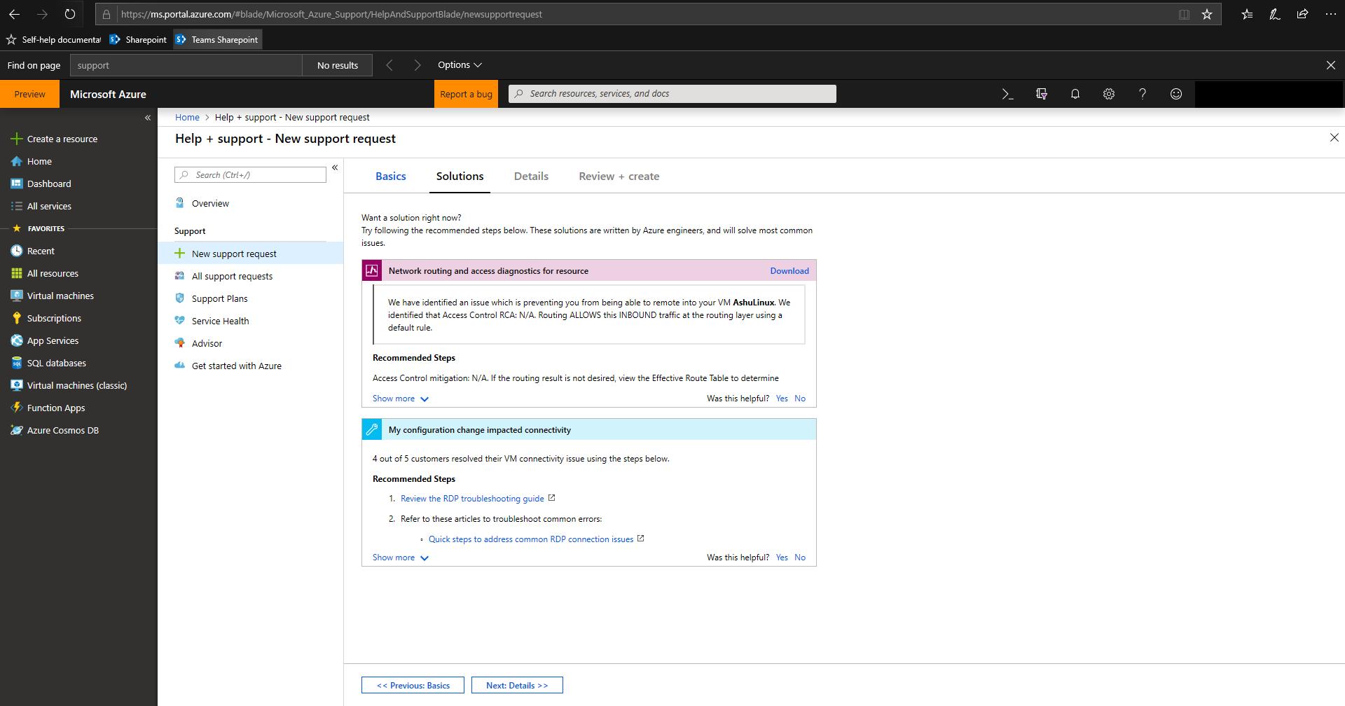 Solutions screenshot