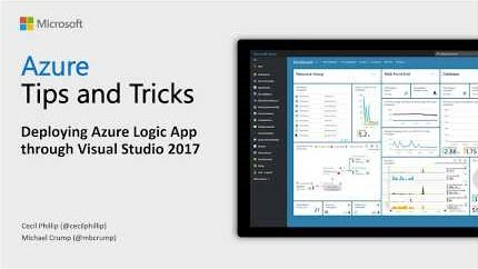 Thumbnail from Azure Tips and Tricks video on How to deploy Azure Logic Appsthrough Visual Studio 2017 from YouTube
