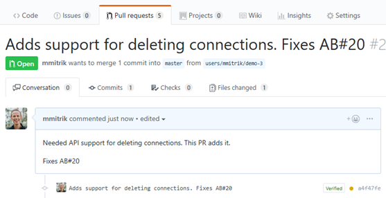 Linking Azure Boards items from GitHub pull request commits