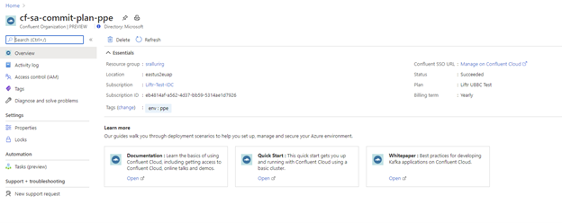 Seamlessly provision Confluent organizations through Azure portal.