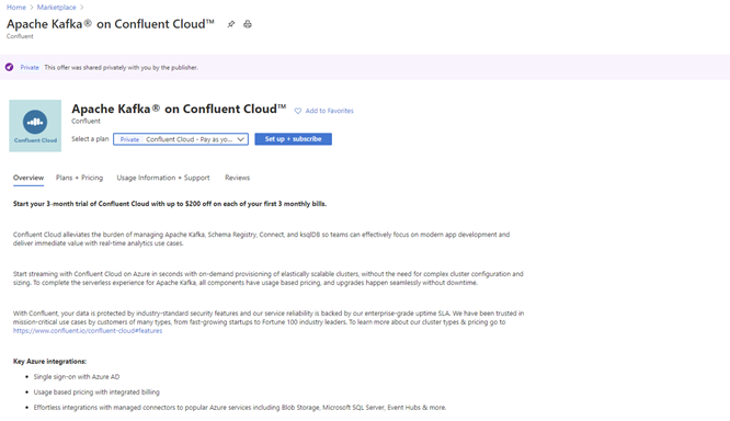 Here is the step by step process to configure Confluent Cloud resources from Azure portal.