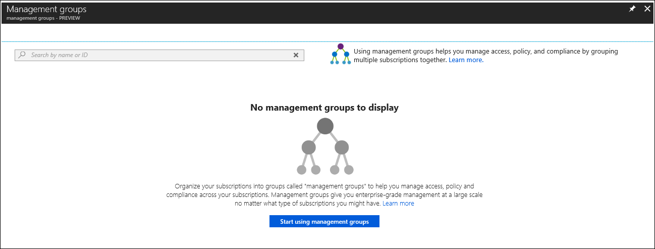 If You Would Rather Dive Right In Go To Management Groups The Azure Portal And Select Start Using Your New Hierarchy