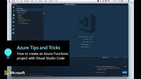 Thumbnail from How to create an Azure Functions project with Visual Studio Code