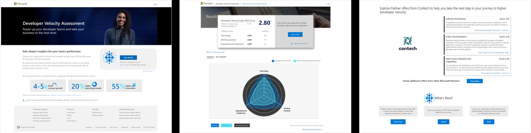 Developer Velocity Assessment screenshot.