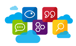 Image of icons representing various components of Azure Cognitive Services